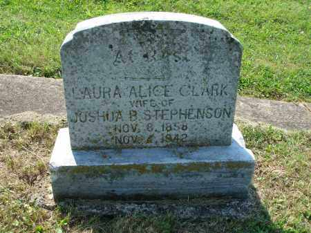 STEPHENSON, LAURA ALICE - Adams County, Ohio | LAURA ALICE STEPHENSON - Ohio Gravestone Photos