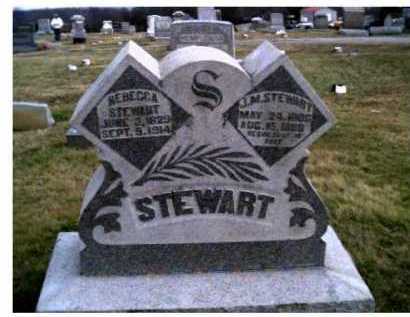 STEWART, REBECCA - Adams County, Ohio | REBECCA STEWART - Ohio Gravestone Photos