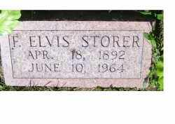 STORER, F. ELVIS - Adams County, Ohio | F. ELVIS STORER - Ohio Gravestone Photos