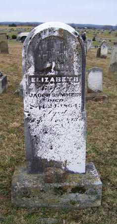 SUMMERS, ELIZABETH - Adams County, Ohio | ELIZABETH SUMMERS - Ohio Gravestone Photos