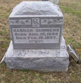 SUMMERS, HANNAH - Adams County, Ohio | HANNAH SUMMERS - Ohio Gravestone Photos