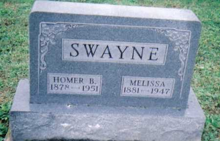 SWAYNE, HOMER B. - Adams County, Ohio | HOMER B. SWAYNE - Ohio Gravestone Photos