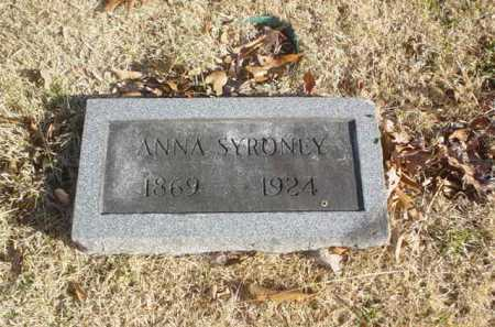 SYRONEY, ANNA - Adams County, Ohio | ANNA SYRONEY - Ohio Gravestone Photos