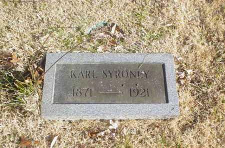 SYRONEY, KARL - Adams County, Ohio | KARL SYRONEY - Ohio Gravestone Photos