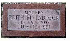 TADLOCK, EDITH M. - Adams County, Ohio | EDITH M. TADLOCK - Ohio Gravestone Photos