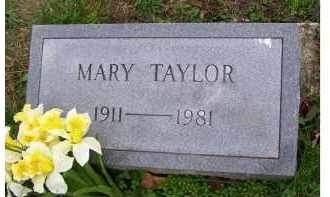 TAYLOR, MARY - Adams County, Ohio | MARY TAYLOR - Ohio Gravestone Photos