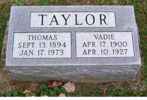 TAYLOR, VADIE - Adams County, Ohio | VADIE TAYLOR - Ohio Gravestone Photos