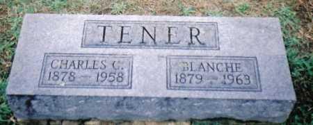 TENER, CHARLES C. - Adams County, Ohio | CHARLES C. TENER - Ohio Gravestone Photos