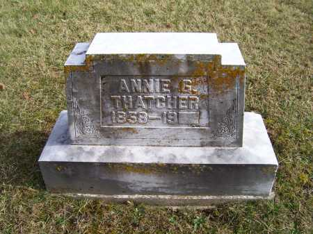 THATCHER, ANNIE G. - Adams County, Ohio | ANNIE G. THATCHER - Ohio Gravestone Photos