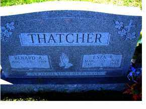THATCHER, BENARD A. - Adams County, Ohio | BENARD A. THATCHER - Ohio Gravestone Photos