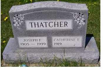 THATCHER, CATHERINE E. - Adams County, Ohio | CATHERINE E. THATCHER - Ohio Gravestone Photos
