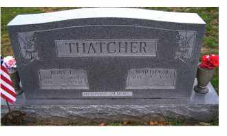 THATCHER, MARTHA J. - Adams County, Ohio | MARTHA J. THATCHER - Ohio Gravestone Photos