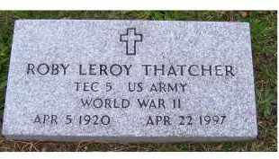 THATCHER, ROBY LEROY - Adams County, Ohio | ROBY LEROY THATCHER - Ohio Gravestone Photos