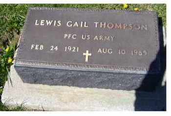 THOMPSON, LEWIS GAIL - Adams County, Ohio | LEWIS GAIL THOMPSON - Ohio Gravestone Photos