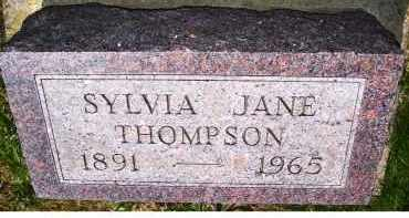 THOMPSON, SYLVIA JANE - Adams County, Ohio | SYLVIA JANE THOMPSON - Ohio Gravestone Photos