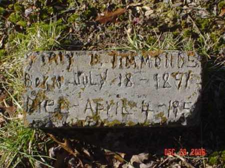 TIMMONS, MARY - Adams County, Ohio | MARY TIMMONS - Ohio Gravestone Photos