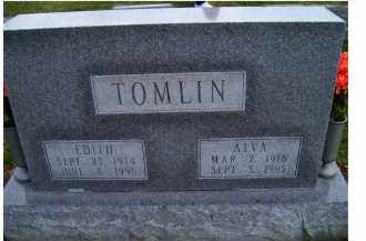 TOMLIN, ALVA - Adams County, Ohio | ALVA TOMLIN - Ohio Gravestone Photos