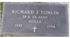 TOMLIN, RICHARD S. - Adams County, Ohio | RICHARD S. TOMLIN - Ohio Gravestone Photos