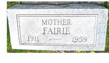 TONG, FAIRIE - Adams County, Ohio | FAIRIE TONG - Ohio Gravestone Photos