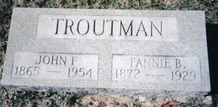 TROUTMAN, FANNIE B. - Adams County, Ohio | FANNIE B. TROUTMAN - Ohio Gravestone Photos