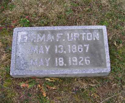 URTON, EMMA F. - Adams County, Ohio | EMMA F. URTON - Ohio Gravestone Photos