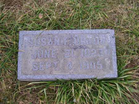URTON, SUSAN F. - Adams County, Ohio | SUSAN F. URTON - Ohio Gravestone Photos