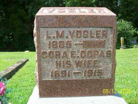 VOGLER, CORA ETHEL - Adams County, Ohio | CORA ETHEL VOGLER - Ohio Gravestone Photos