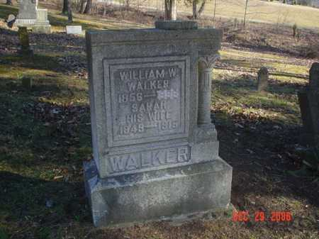 WALKER, SARAH - Adams County, Ohio | SARAH WALKER - Ohio Gravestone Photos