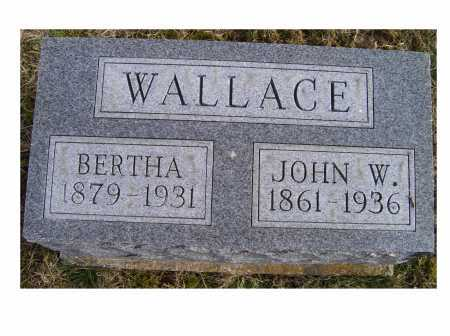 WALLACE, BERTHA - Adams County, Ohio | BERTHA WALLACE - Ohio Gravestone Photos