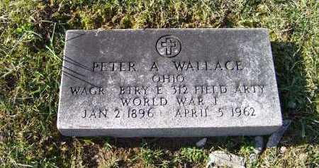 WALLACE, PETER A. - Adams County, Ohio | PETER A. WALLACE - Ohio Gravestone Photos
