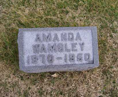 WAMSLEY, AMANDA - Adams County, Ohio | AMANDA WAMSLEY - Ohio Gravestone Photos