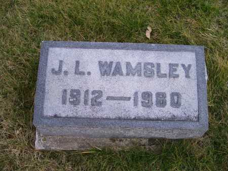 WAMSLEY, J. L. - Adams County, Ohio | J. L. WAMSLEY - Ohio Gravestone Photos