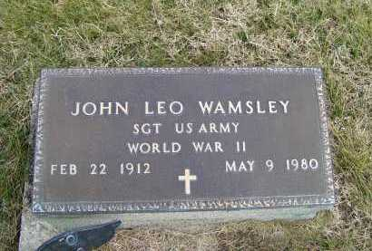 WAMSLEY, JOHN LEO - Adams County, Ohio | JOHN LEO WAMSLEY - Ohio Gravestone Photos