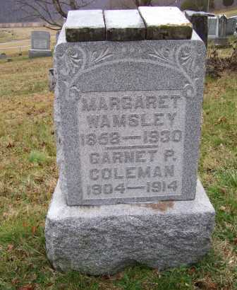 WAMSLEY, MARGARET - Adams County, Ohio | MARGARET WAMSLEY - Ohio Gravestone Photos