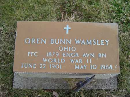 WAMSLEY, OREN BUNN - Adams County, Ohio | OREN BUNN WAMSLEY - Ohio Gravestone Photos