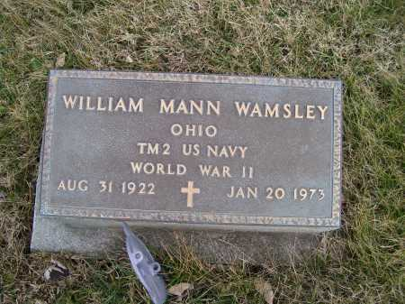 WAMSLEY, WILLIAM MANN - Adams County, Ohio | WILLIAM MANN WAMSLEY - Ohio Gravestone Photos