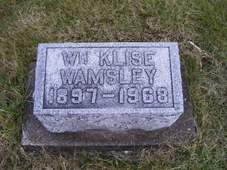 WAMSLEY, WM. KLISE - Adams County, Ohio | WM. KLISE WAMSLEY - Ohio Gravestone Photos