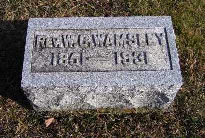 WAMSLEY, W. C. - Adams County, Ohio | W. C. WAMSLEY - Ohio Gravestone Photos