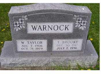 WARNOCK, W. TAYLOR - Adams County, Ohio | W. TAYLOR WARNOCK - Ohio Gravestone Photos