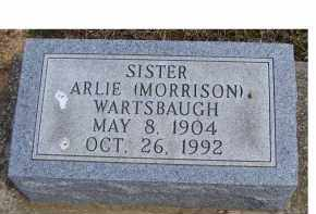 MORRISON WARTSBAUGH, ARLIE - Adams County, Ohio | ARLIE MORRISON WARTSBAUGH - Ohio Gravestone Photos