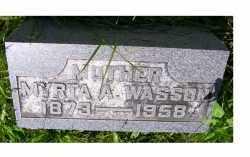 WASSON, MYRTA A. - Adams County, Ohio | MYRTA A. WASSON - Ohio Gravestone Photos