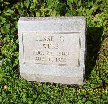 WEBB, JESSE G - Adams County, Ohio | JESSE G WEBB - Ohio Gravestone Photos