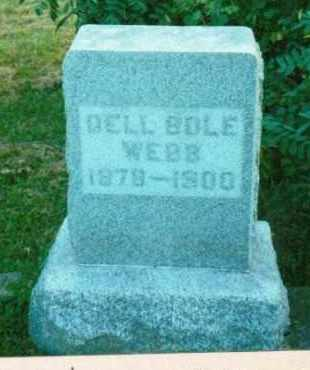BOLE WEBB, LEONA DELL - Adams County, Ohio | LEONA DELL BOLE WEBB - Ohio Gravestone Photos