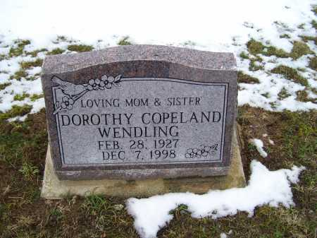 COPELAND WENDLING, DOROTHY - Adams County, Ohio | DOROTHY COPELAND WENDLING - Ohio Gravestone Photos