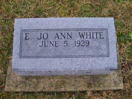 WHITE, E. JO ANN - Adams County, Ohio | E. JO ANN WHITE - Ohio Gravestone Photos