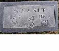 WHITE, SARA A. - Adams County, Ohio | SARA A. WHITE - Ohio Gravestone Photos