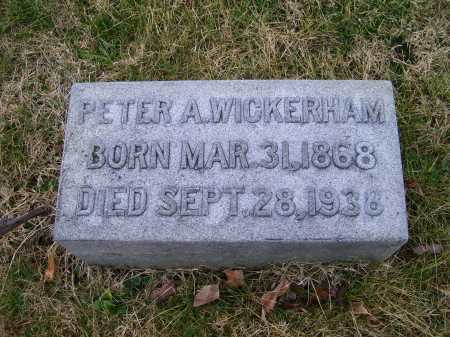 WICKERHAM, PETER A. - Adams County, Ohio | PETER A. WICKERHAM - Ohio Gravestone Photos