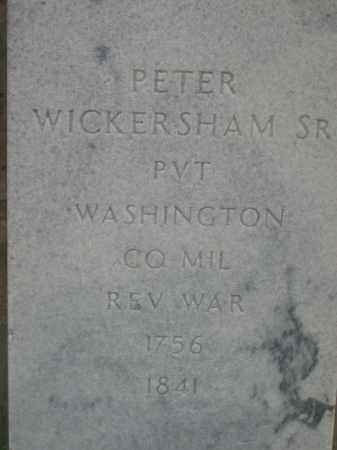 WICKERSHAM, PETER - Adams County, Ohio | PETER WICKERSHAM - Ohio Gravestone Photos
