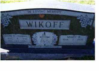 WIKOFF, MARY R. - Adams County, Ohio | MARY R. WIKOFF - Ohio Gravestone Photos