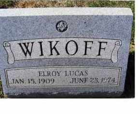 WIKOFF, ELROY LUCAS - Adams County, Ohio | ELROY LUCAS WIKOFF - Ohio Gravestone Photos